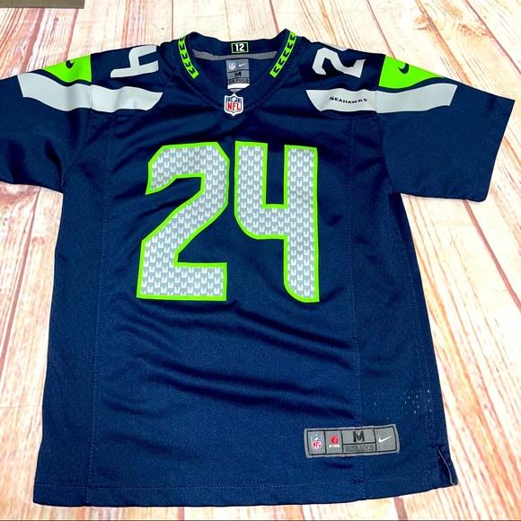 NFL Seattle Seahawks 24 lynch jersey youth size M